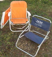 Low profile folding chairs