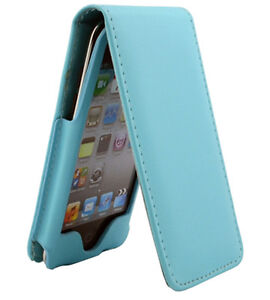Teal Blue Leather Case Cover for Apple iPod Touch iTouch 4th Gen 8GB 32GB 64GB