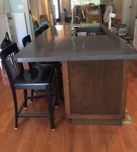 Kitchen Island - Stone counter, Silgranit sink, Maple cabinets