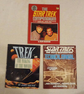 3 large Star Trek Reference Paperback Books