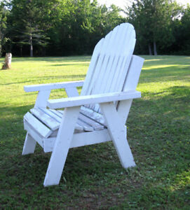PERFECT FOR WINDY PLACES...ADIRONDACK WOODEN CHAIR !