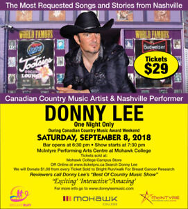 The Best Of Country Nashville Experience Featuring Donny Lee