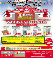 United Lumber Home Hardware Tent Sale