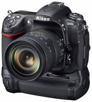 Nikon D300 & D300s DSLR Camera Battery Grip + 2 LOADER CHARGER