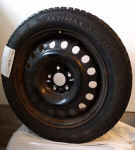 3 General Altimax Arctic winter tires with steel rims 215/55 R17