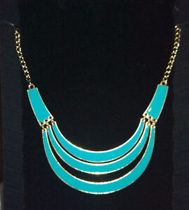 Necklace Gold & Turquoise