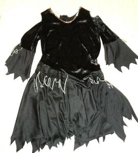 Black Witches Costume- Dress and Hat    Size Large 14-16