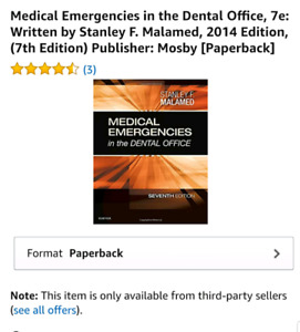 medical emergencies in the dental office seventh edition