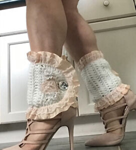Victorian inspired crocheted ankle cuffs