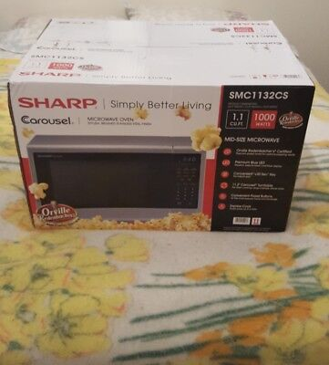Sharp SMC1132CS Microwave Oven 1.1 CFT Stainless Steel