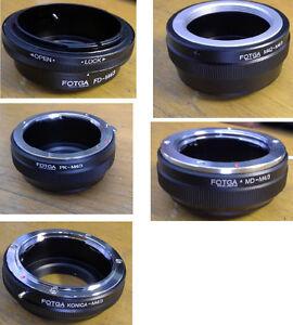 M4/3 Adaptateur : Canon FD , Konica , M42 , Minolta , Pentax