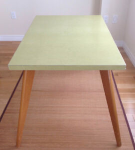 Mid Century Lime Green Formica Extendable Table
