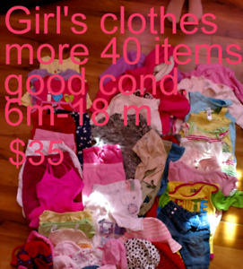 Girl's clothe 6 m to 18 m $25