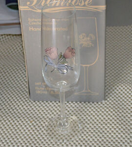 Hand painted crystal glasses from Czech Republic