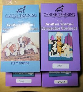 AnnMarie Silverton Competitive Obedience VHS  Set of 5