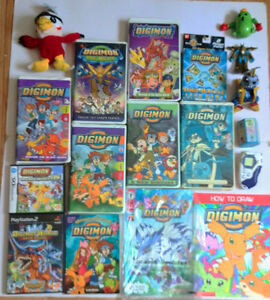 A Mega Digimon Collection (Toys, Games, VHS, Blanket, and More)