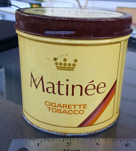 VINTAGE ROUND MATINEE TOBACCO TIN Imperial Tobacco Montreal