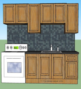 7 KITCHEN CABINET AND COUNTER TOPS  $750