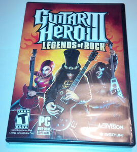 Guitar Hero III: Legends Of Rock for PC computer DVD-ROM