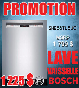 PROMOTION Lave-vaisselle Bosch 24 po silencieux stainless