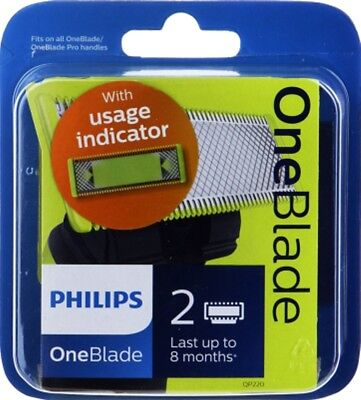 Philips OneBlade QP220/50 Replaceable Blade Head - BEST PRICE - 2 Blade