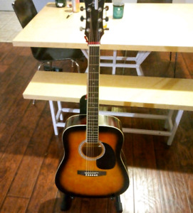 Jay Turser Acoustic Guitar + Accessories.