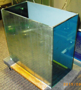 Coffee Table Base - Blue Glass