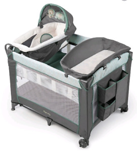 Baby change table, bassinet and play pen