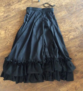 Black Flamenco Dance Skirt