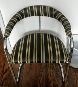 6 Chrome PlatedTubular Steel Dining Room Chairs