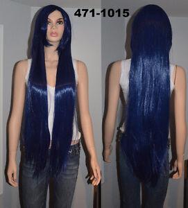 BRAND NEW: 100cm Straight Navy Blue Cosplay Wig (471-1015)
