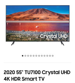 Samsung 55TU7100 4k smart 2020 model brand new boxed call 07550365232