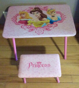 Disney Princess Table With Matching Bench Seat - St. Thomas