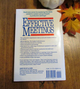 Effective Meetings: The Complete Guide - Hardcover Book Kitchener / Waterloo Kitchener Area image 2