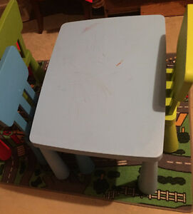 IKEA toddler table with two chairs