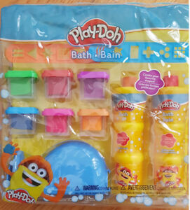 New Play-Doh Bath Soap Molder Set 2 Stencils 6 Soap
