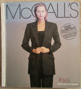McCall's Sewing Pattern  Store Counter Catalog Fall 1998