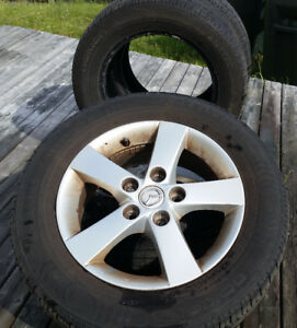 Nokian eNTYRE All Season Tires 195 65 15, Two Mazda Alloy Rims