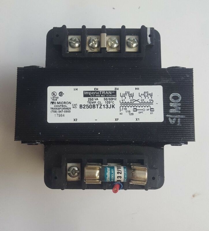 Micron Impervitran B250BTZ13JK  250VA 50/60HZ Control Transformer