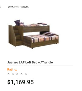Loft bed with trundle