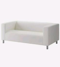 KLIPPAN, 2/3 Seat Sofa, White, Used, Slip Cover Included