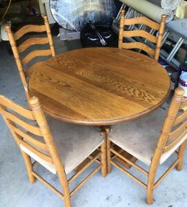 Solid Oak Kitchen Table - Burlington