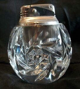 Vintage Pinwheel Crystal Table Lighter