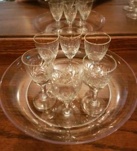 6 Old-Cut Crystal Cordials
