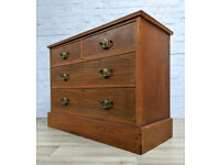 Edwardian Stripped Mahogany Chest Of Drawers (DELIVERY AVAILABLE)