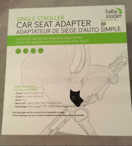 Baby Jogger car seat adapter (single stroller)