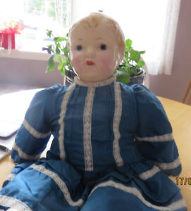 Antique Effanbee Doll Baby Face OLD! Crazing  Needs Some TLC