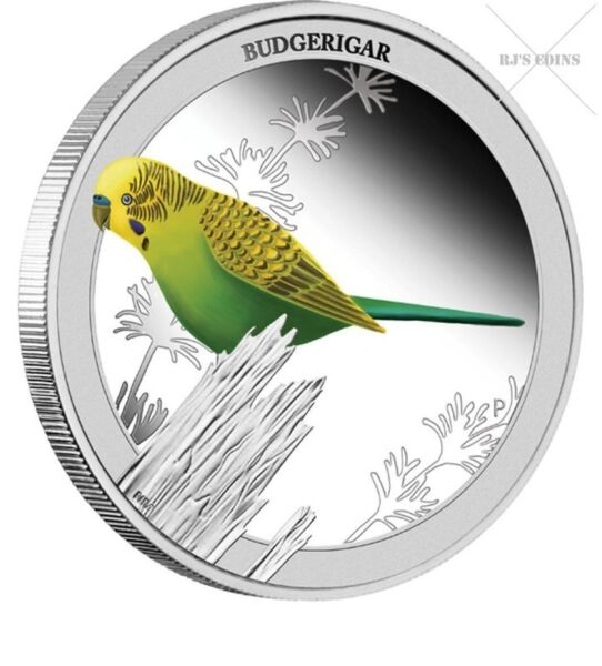 "BIRDS OF AUSTRALIA - FIVE ""½ oz"" SILVER PROOF COINS FROM THE PERTH MINT - 2013 COMPLETE SERIES"
