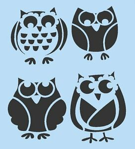 OWL STENCIL OWLS STENCILS BIRD BIRDS HOOTIE FLEXIBLE TEMPLATE CRAFT NEW 7