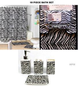 Zebra bath accessories ebay for Zebra bathroom accessories
